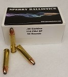 Sperry Ballistics 30 Carbine 110gr soft point (50 rds)