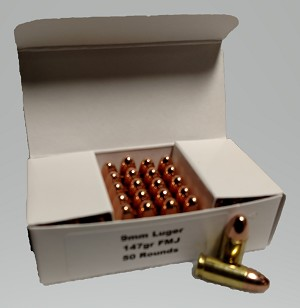 Sperry Ballistics 9mm 147gr FMJ (50 rounds)