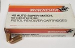 Winchester .45 ACP 185 grain Full Metal Case Clean Cutting 50 per Box